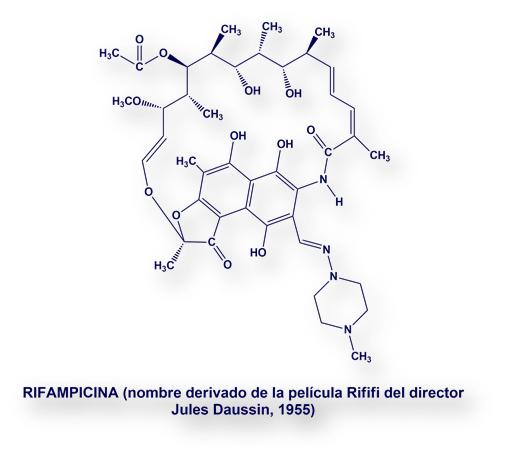 Resultado de imagen de rifampicina e isoniazida formula quimica